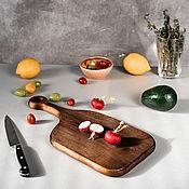 Посуда handmade. Livemaster - original item Wooden board made of a single piece of Siberian cedar wood RD50. Handmade.