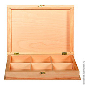 Материалы для творчества handmade. Livemaster - original item Kn32235P6 Book-box with 6 cells 35 25 6 cm.. Handmade.