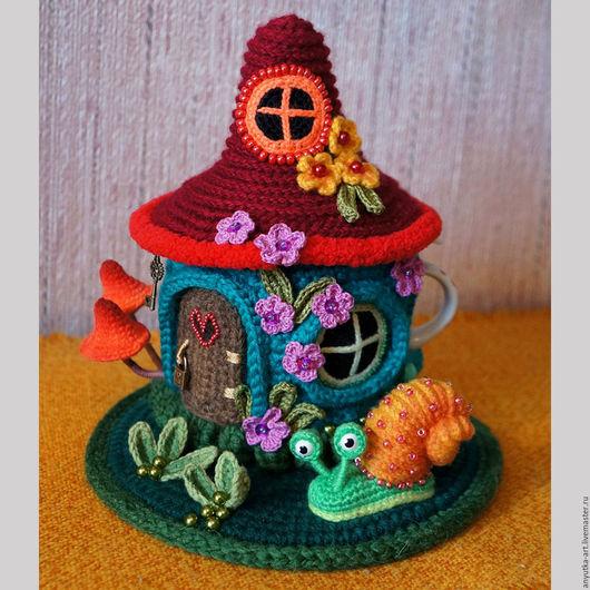 """Кухня ручной работы. Ярмарка Мастеров - ручная работа. Купить Грелка на заварник """"Цветочный домик"""" (с заварником). Handmade."""