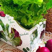 Для дома и интерьера ручной работы. Ярмарка Мастеров - ручная работа Короб для специй Сочный салат. Handmade.