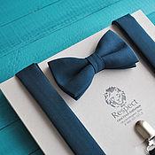 Аксессуары handmade. Livemaster - original item Dark green tie Suspenders dark green Dip. Handmade.