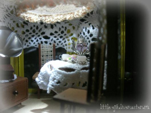 """Кукольный дом ручной работы. Ярмарка Мастеров - ручная работа. Купить Румбокс в фонарике """"Беседка"""". Handmade. Желтый, фонарик, ретро"""