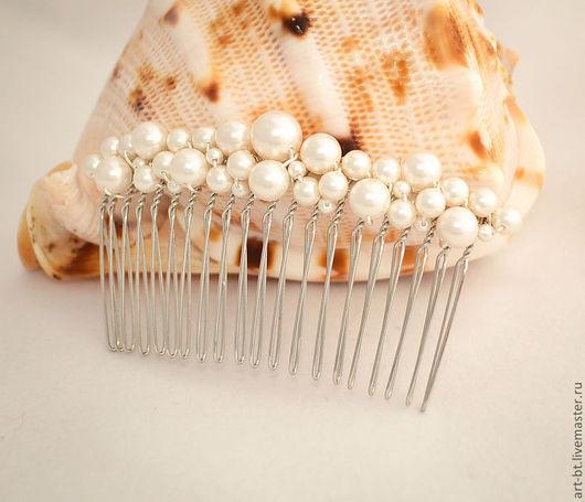 """Заколки ручной работы. Ярмарка Мастеров - ручная работа. Купить Гребень для волос """"Роскошь"""". Handmade. Украшение для невесты, украшения для невесты"""