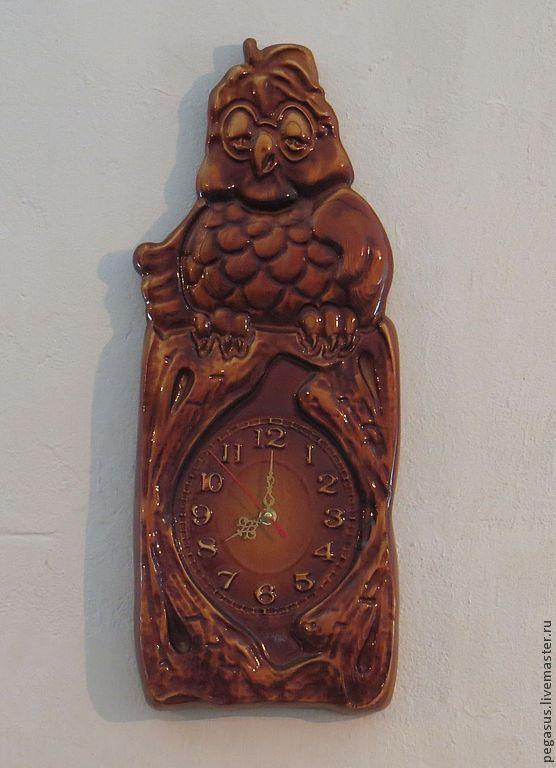 Clocks handmade. Livemaster - handmade. Buy 'Owl' number 2. Clock for home,wall.Gift, clock, wood carving