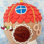 Для дома и интерьера ручной работы. Ярмарка Мастеров - ручная работа Подушка - игрушка   Домик Ежика. Handmade.