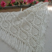 Аксессуары handmade. Livemaster - original item Knitted shawl Warm,winter handmade. Handmade.