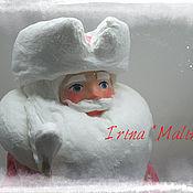 Куклы и игрушки ручной работы. Ярмарка Мастеров - ручная работа Дед Мороз Ватный Продано!. Handmade.
