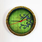 """Для дома и интерьера ручной работы. Ярмарка Мастеров - ручная работа Настенные часы """"Домик Хоббита"""". Handmade."""