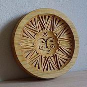 Солнце из дерева фото