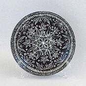 Посуда ручной работы. Ярмарка Мастеров - ручная работа Декоративная тарелка Индия. Handmade.
