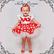 Работы для детей, handmade. Livemaster - original item Baby dress polka dot Art.188. Handmade.