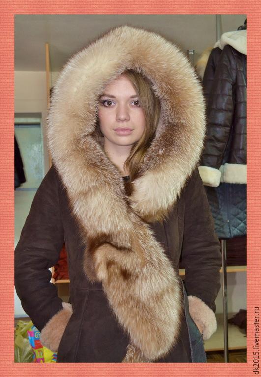 Зимняя верхняя женская одежда дубленки