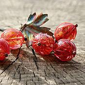 """Украшения ручной работы. Ярмарка Мастеров - ручная работа Комплект """"Рубиновые ягоды 2"""". Lampwork. Handmade."""