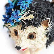 """Куклы и игрушки ручной работы. Ярмарка Мастеров - ручная работа фигурка """"Ёжик, который любил васильки"""". Handmade."""