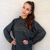Одежда handmade. Livemaster - original item Hooded sweatshirt, cotton sweatshirt, loose sweater. Handmade.