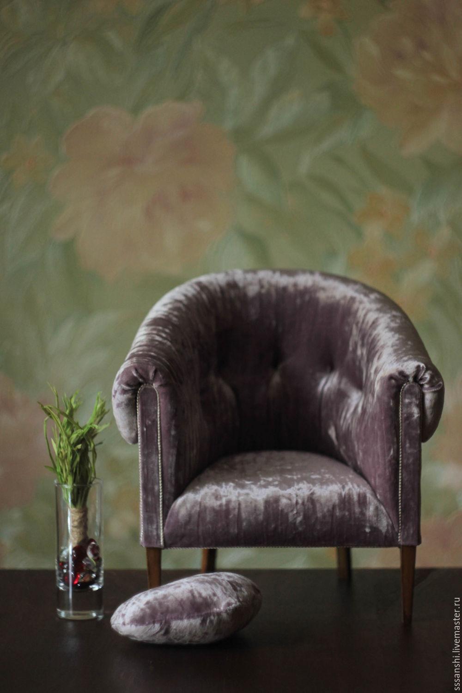 Chair 1:4 'Violet', Doll furniture, Zaporozhye,  Фото №1