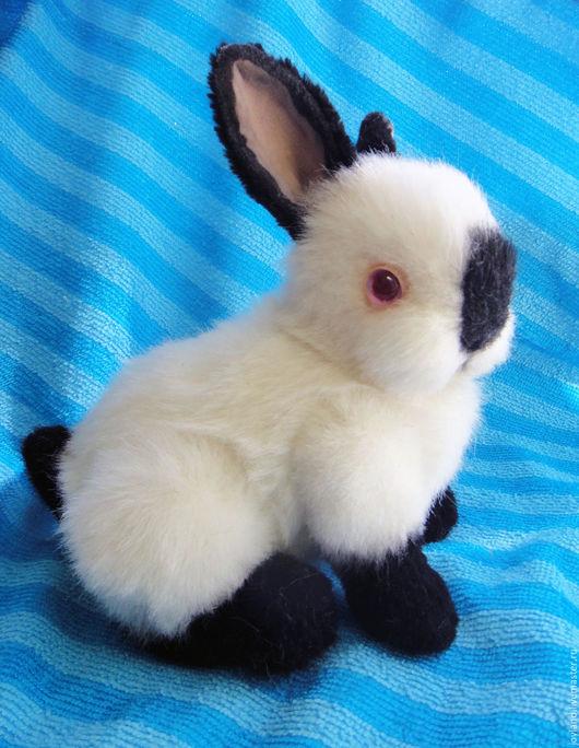 Куклы и игрушки ручной работы. Ярмарка Мастеров - ручная работа. Купить Калифорнийский крольчонок Малышка Сью. Handmade. Чёрно-белый