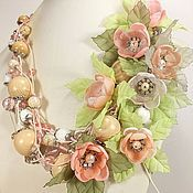 Украшения handmade. Livemaster - original item Breeze of Paradise Island. necklace with removable floral decoration.. Handmade.
