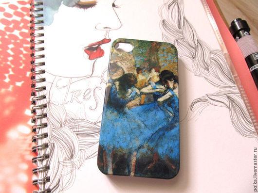 Для телефонов ручной работы. Ярмарка Мастеров - ручная работа. Купить Чехол для iphone 4,4s. Handmade. Разноцветный, балерины