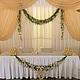 Оформление свадьбы цветами в ресторане Джотто. Украшение стола молодоженов цветами -