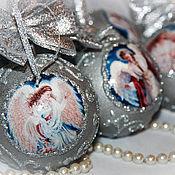 """Подарки к праздникам ручной работы. Ярмарка Мастеров - ручная работа Елочные шары """"Ангел Хранитель"""" 6 штук. Handmade."""