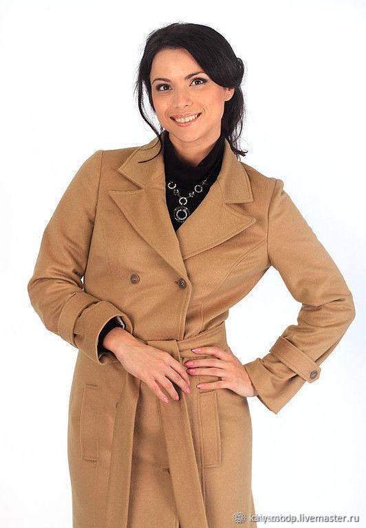 Demi-season coat-dark beige, Coats, Moscow,  Фото №1