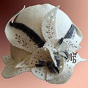"""Для дома и интерьера ручной работы. Ярмарка Мастеров - ручная работа Шляпка для сауны """"Кокетка"""". Handmade."""