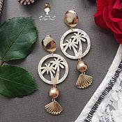 Украшения handmade. Livemaster - original item Stylish earrings with shells