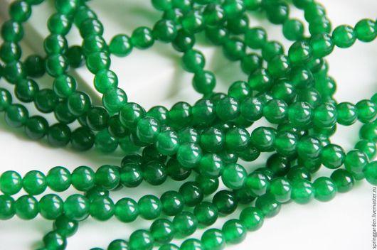 Для украшений ручной работы. Ярмарка Мастеров - ручная работа. Купить Нефрит бусина УНДИНА 6 мм,зеленый, гладкий шар. Handmade.