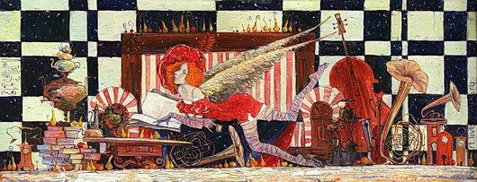 Символизм ручной работы. Ярмарка Мастеров - ручная работа. Купить Чашечка утреннего чая. Handmade. Будуар, ангел, антиквариат