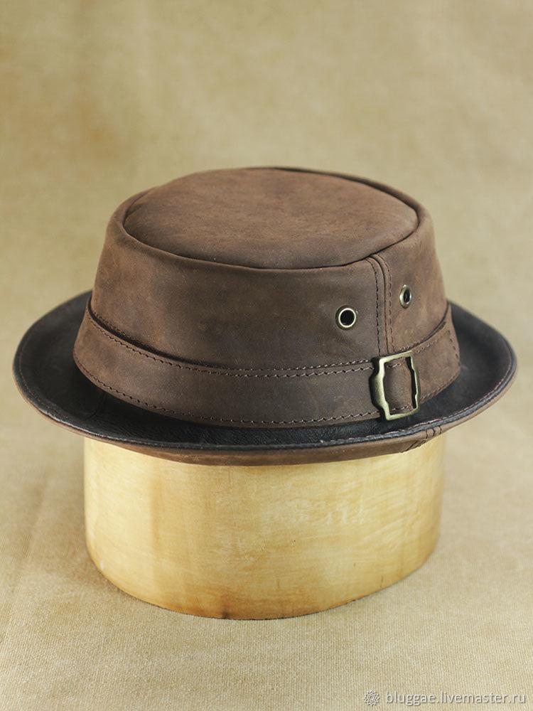Кожаная шляпа порк пай PPH-30, Шляпы, Москва,  Фото №1