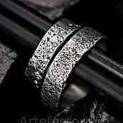 Свадебный салон ручной работы. Ярмарка Мастеров - ручная работа Обручальные кольца с песочной текстурой. Handmade.
