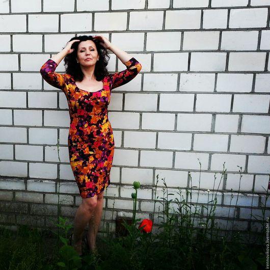 Платья ручной работы. Ярмарка Мастеров - ручная работа. Купить Платье летнее (2). Handmade. Платье, платье летнее