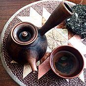 Посуда ручной работы. Ярмарка Мастеров - ручная работа Чайник заварочный глиняный.. Handmade.