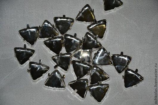 Для украшений ручной работы. Ярмарка Мастеров - ручная работа. Купить Оправа для страз треугольник 18 мм серебро. Handmade.