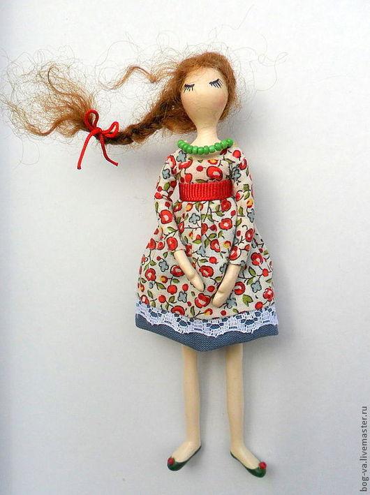 """Броши ручной работы. Ярмарка Мастеров - ручная работа. Купить Брошка """"Куколка"""". Handmade. Синий, брошь ручной работы, куколка"""