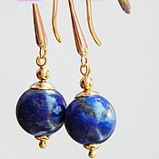 Украшения handmade. Livemaster - original item Adele earrings with lapis lazuli. Handmade.