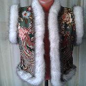 Одежда ручной работы. Ярмарка Мастеров - ручная работа Жилет из павлопосадского платка,ручная работа. Handmade.