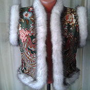 Одежда handmade. Livemaster - original item Vest pablopicasso handkerchief,handmade. Handmade.