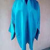 Одежда ручной работы. Ярмарка Мастеров - ручная работа Узбекский бирюзовый шелковый чапан из Бехасам. Бохо-пальто, кафтан. Handmade.