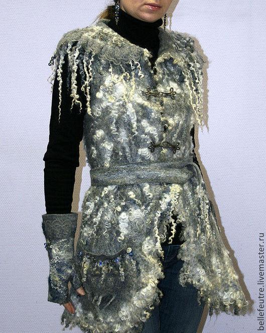 """Жилеты ручной работы. Ярмарка Мастеров - ручная работа. Купить Жилет """"The noble gray"""". Handmade. Серый, жилет для девушки"""