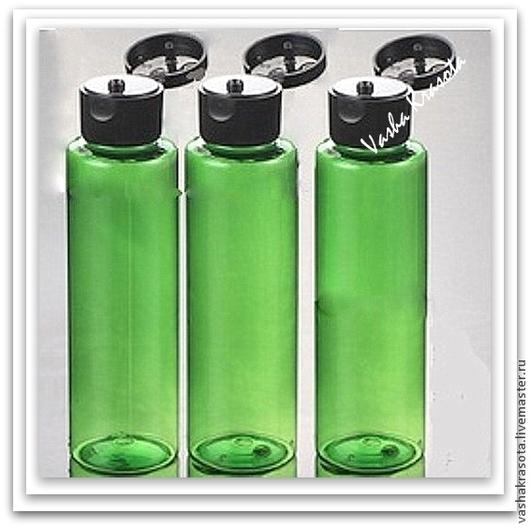 Упаковка ручной работы. Ярмарка Мастеров - ручная работа. Купить Флакон флип-топ, 100 мл зеленый. Handmade.