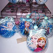 """Подарки к праздникам ручной работы. Ярмарка Мастеров - ручная работа """"Ледяное сердце"""" набор шариков на елку. Handmade."""