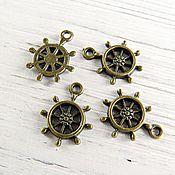 Материалы для творчества handmade. Livemaster - original item Steering-Wheel pendant 19X15 mm bronze (art. 1306). Handmade.