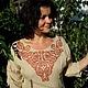 """Платья ручной работы. Ярмарка Мастеров - ручная работа. Купить Платье""""Узел любви"""". Handmade. Бежевый, длинное платье, льняное платье"""