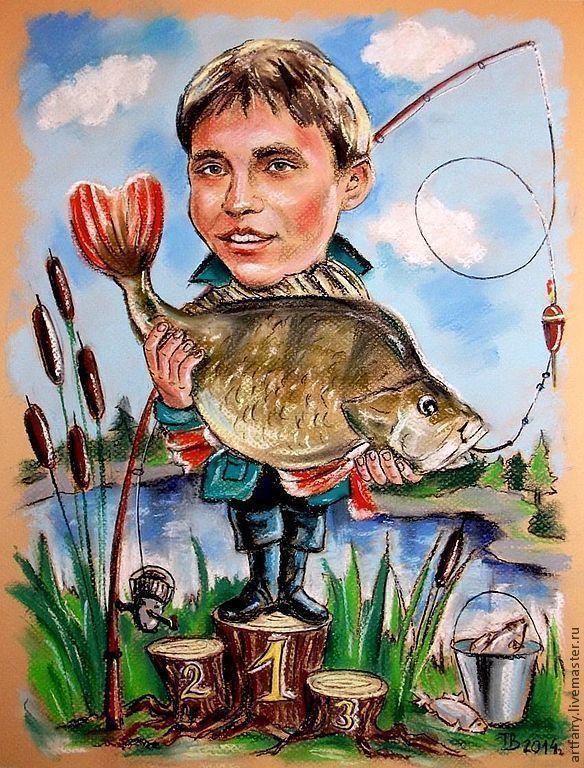 Картинки с рыбаками держащие рыбу
