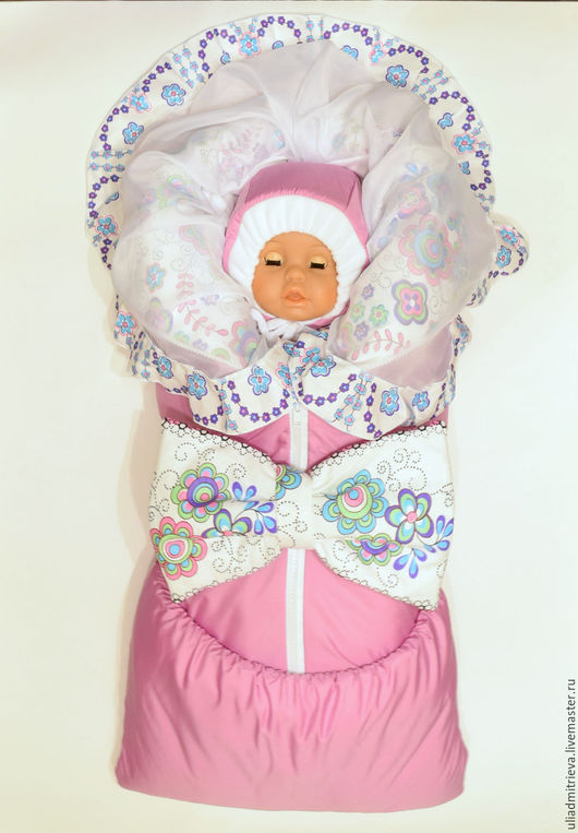 Для новорожденных, ручной работы. Ярмарка Мастеров - ручная работа. Купить Комплект  на выписку для девочки. Handmade. Однотонный, комплект на выписку