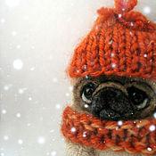 Куклы и игрушки ручной работы. Ярмарка Мастеров - ручная работа Зима...Мопс. Handmade.