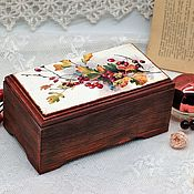 Для дома и интерьера handmade. Livemaster - original item Box bouquet of flowers and berries terracotta. Handmade.