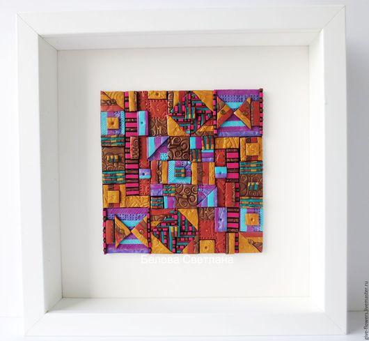 Абстракция ручной работы. Ярмарка Мастеров - ручная работа. Купить Панно Мозаичное полимерная глина. Handmade. Комбинированный, панно для интерьера
